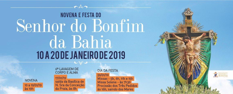 Festa do Senhor do Bonfim será realizada entre os dias 10 e 20 de janeiro