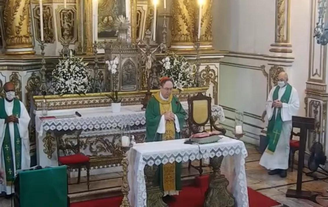 Cardeal Dom Sergio da Rocha preside Missa na Basílica do Bonfim