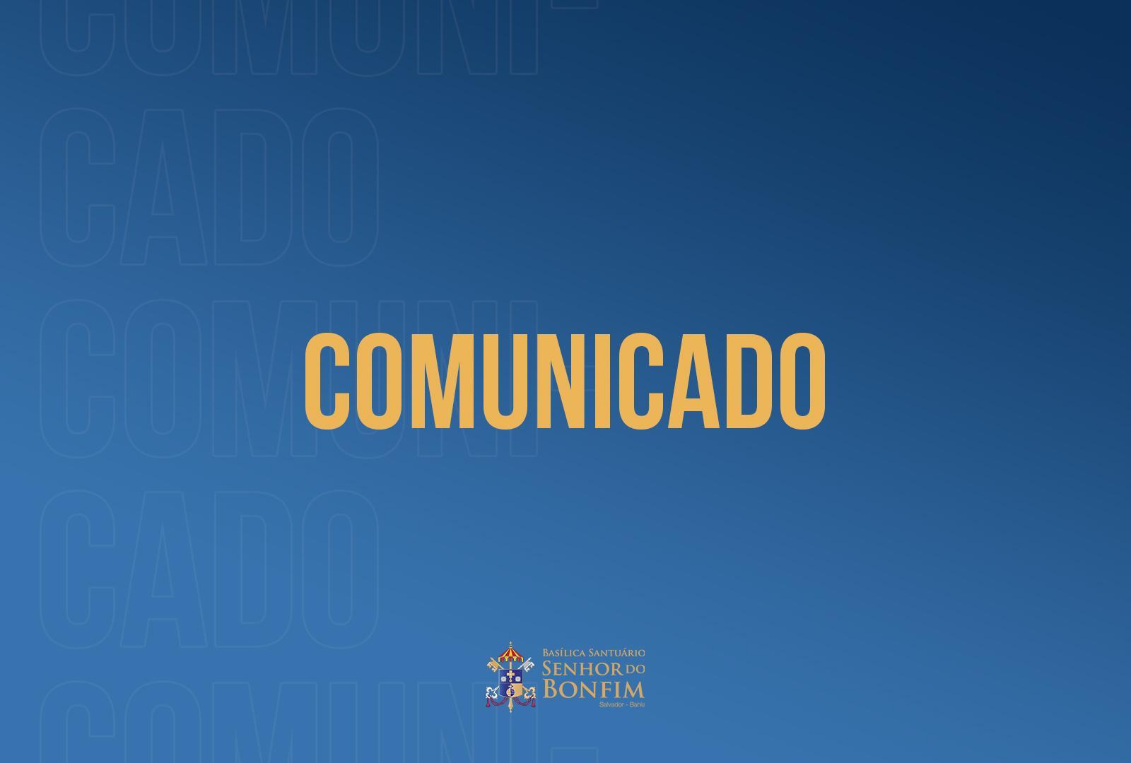 Basílica do Bonfim divulga novas orientações para evitar a disseminação da COVID-19